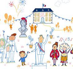 La République et le Gouvernement expliqués aux enfants de 6 à 10 ans à travers les symboles de la République, le vote, le rôle du Premier ministre, le travail du Gouvernement, le conseil des ministres et l'élaboration des lois....