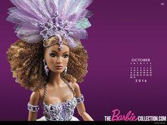 Calendario oficial de The Barbie Collection: octubre de 2016 - Barbies de Colección