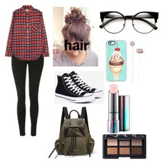 """""""school"""" by queensland06 on Polyvore featuring Topshop, R13, Converse, Casetify, Burberry, MAC Cosmetics and NARS Cosmetics"""