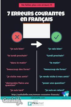 7 erreurs courantes en français (FLE) et les explications au format audio. Plus d'informations : http://nathaliefle.com/erreurs-courantes-francais/