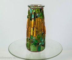 Mosaic vase Mosaic Vase, Urn, Mosaics, Art Lessons, Vases, Lanterns, Glass Vase, Candle Holders, Candles