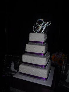 "My pretty cake...Handmade Custom Swarovski Crystal 6"" Monogram Rhinestone Cake Topper Any Letter A B C D E F G H I J K L M N O P Q R S T U V W X Y Z"
