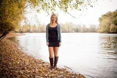 Senior Portrait Session - River - Girl Senior Portrait - Western Massachusetts - Fall Foliage Stephanie Craig Photography