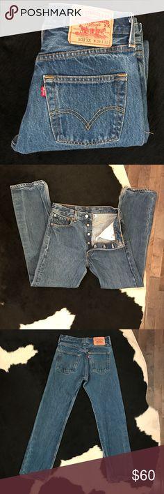 Vintage 501 Levi's classic jeans Vintage 501 Levi's classic jeans, button fly, 28 inch waist Levi's Jeans Straight Leg