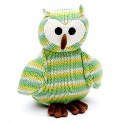 Knitted Green Owl from Born Gifted