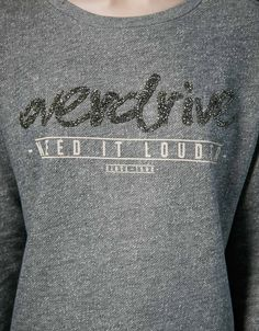 Shimmer text plush sweatshirt - Sweatshirts - Bershka United Kingdom