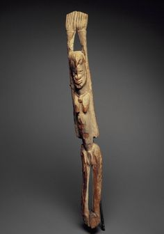 Brooklyn Museum: Arts of Africa: Standing Figure with Arms Raised