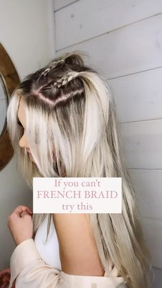 Easy Hairstyles For Long Hair, Summer Hairstyles, Pretty Hairstyles, Homecoming Hairstyles, Clubbing Hairstyles, Picture Day Hairstyles, Back To School Hairstyles Easy, Hairstyles For Women, Easy Braided Hairstyles