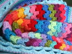 CROCHET: granny stripe tutorial. very cool for a blanket!