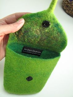 Felted Mini Purse or Smartphone Case - Andrea Graham