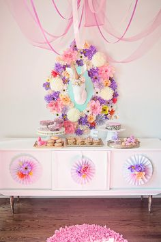 Unicorn Dessert Table by Bubble and Sweet