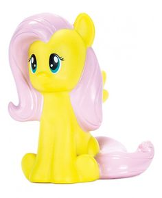 This 3D My Little Pony Fluttershy Colour Changing Light magically brings your favourite character to life! The battery operated nightlight is fully portable so Fluttershy can be taken with you wherever you go, whether it's a family holiday or a sleepover at a friend's. Rainbow Dash is also available!