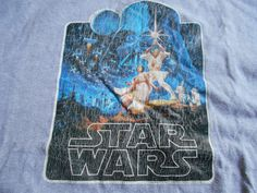 VINTAGE 1977 STAR WARS T Shirt RINGER ORIGINAL TRANSFER SCREEN STAR GREY /BLK #SCREENSTAR #BasicTee