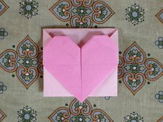 Snap Origami Heart Envelope photos on Pinterest