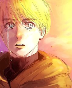 Aww don't cry my baby im here Mikasa, Aot Armin, Attack On Titan Hoodie, Attack On Titan Anime, Snk Annie, Best Anime Shows, Connie Springer, Humanoid Creatures, Fanart