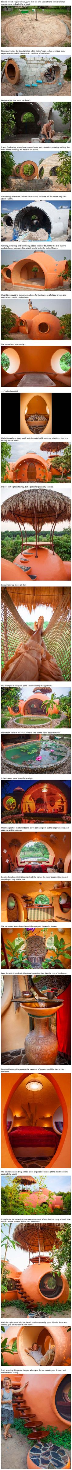 Geek Turns Mound of Dirt Into an Awesome Pod-Shaped Home for just $9,000 - TechEBlog It's almost earthbag/cob/earthship but it can look like this!