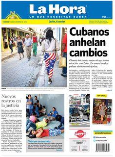 Los temas destacados son: Cubanos anhelan cambios, Nuevos rostros en la justicia y Todo por una entrada (Final Campeonato).