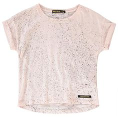 Camiseta Spots Britney Rosa Palo Finger in the nose Moda Joven , Teen Girl Fashion, Kids Fashion, Girls Blouse, Knit Shorts, Little People, Pale Pink, Tees, T Shirt, Clothes