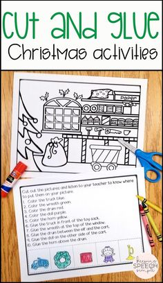 If you are looking for ways to keep young students engaged during the busy holiday season, then check out these adorable Christmas activities. Students practice basic spatial concepts, have exposure to common Christmas and seasonal vocabulary while engaging in hands on activities. These Christmas activities are well suited for preschool, kindergarten, speech therapy and special education. Click here to see more of this effective and motivating resource!