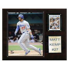 MLB 12 x 15 in. Matt Kemp Los Angeles Dodgers Player Plaque - 1215MKEMP