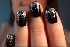 """Black Ice""  Nail Art (video tutorial)"