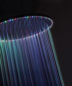 Color Therapy for your shower with an LED shower head | #Wellness
