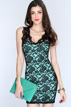This sexy and understated dress is perfect for any occasion where you need to look your best! This little dress is an absolute essential for every girls wardrobe. Youll love it the moment you tr it on! It features floral knitted mesh overlay, scallop v neck, sleeveless, and tight fitted. 90% Nylon 10% Spandex.