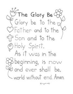 Help your students memorize the Glory Be prayer with this traceable activity. Cute original clip art for children to color. Catholic Mass Prayers, Catholic Religious Education, Catholic Catechism, Catholic Religion, Catholic Kids, Prayer For Mothers, Prayers For Children, Bible Lessons For Kids, Bible For Kids