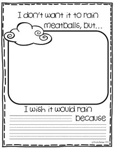 First Grade Fever!: Wacky Weather FREEBIE!  Use with Cloudy with a Chance of Meatballs by cornelia