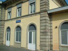 Bahnhofschild von Drusenheim am 25.07.2009.