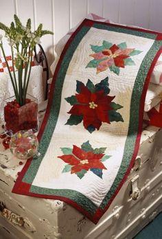 Festive Table Toppers ~ Poinsettia Table Runner