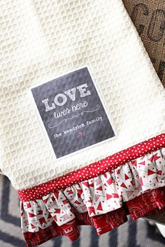 Love Ruffle Towel Kit by sweetwaterscrapbook on Etsy, $8.99