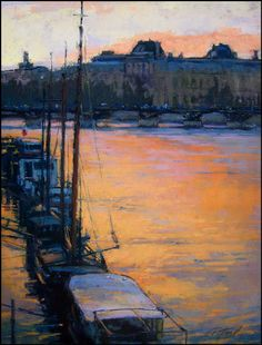 Sunset on the Seine by   Terri Ford