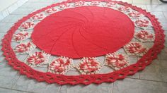 Tapete redondo | Arte em Crochê Tati | Elo7