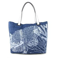 Amazon.com: Emilie M. Aimee Canvas Beach Tote, Chambray: Shoes