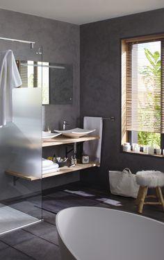 Salle de bains aux inspirations naturelles