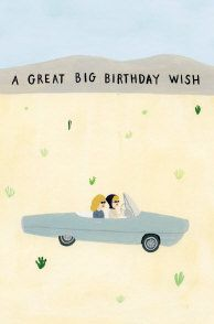 Roger la borde petite birthday cat card by mike lowery cute roger la borde thelma and louise petite card by kate pugsley bookmarktalkfo Images