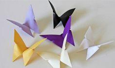 Apprenez à plier un papier pour faire un joli papillon, étape par étape!