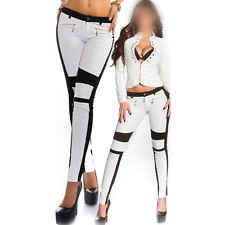 2015 Sexy Zipper Stretch Trousers Slim Stitching Bodycon Leggings Pencil Pants