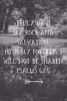 I will not be shaken ...