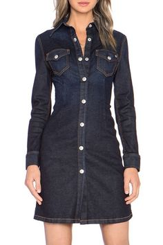 online shopping for HaoDuoYi Womens Boyfriend Denim Button Down Shirt Dress from top store. See new offer for HaoDuoYi Womens Boyfriend Denim Button Down Shirt Dress Button Down Shirt Dress, Denim Button Down, Trendy Dresses, Casual Dresses, Denim Dresses, Sleeve Dresses, Denim Fashion, Fashion Outfits, Dress Fashion