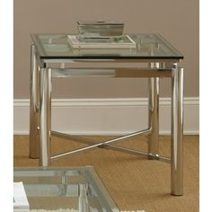 Shop for Greyson Living Natal Chrome and Glass End Table. Get free shipping at Overstock.com - Your Online Furniture Outlet Store! Get 5% in rewards with Club O!
