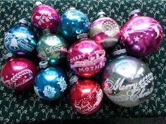Love my vintage Christmas ornaments.