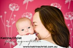 One gorgeous mum with one gorgeous baby. Against her wallpaper backdrop, love Colour Lifestyle Photography, photographing your family in your home xx BRISBANE http://www.katrinachrist.com.au/portrait-photo-gallery/Lifestyle-Collection/Newborn-Photographer.aspx