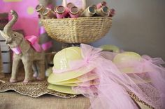 Pink & Gold Safari Glam Birthday Party Ideas. Hats and binoculars available. | Photo 1 of 17 | Catch My Party