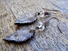 "saraccino: ""Winter leaves"" - earrings"