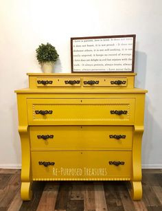 Turmeric is one of the new seasonal colors and it's perfect on this empire piece. Refinished by Re-Purposed Treasures.