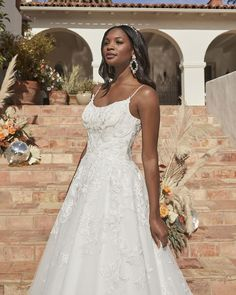 Style BL340 Topaz | Affordable Romantic Lace A-Line Wedding Dress by Beloved | Beloved By Casablanca Bridal Dress Out, Lace Dress, Wedding Dress Sizes, Wedding Dresses, Lace Wedding, Wedding Dress Pictures, Romantic Lace, Gowns, Spaghetti Straps