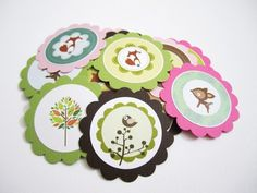 Woodland Nature Animal Critters Tags for Birthday and Baby Shower | adorebynat - Paper/Books on ArtFire