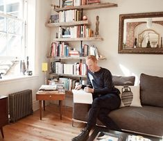 The furniture maker lives with his prototypes and mid-century street finds.